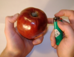 how to make apple pipe