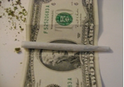 Image rolling weed doobie