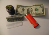 Image of dollar bill joint
