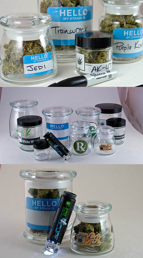 a lot of weed jars