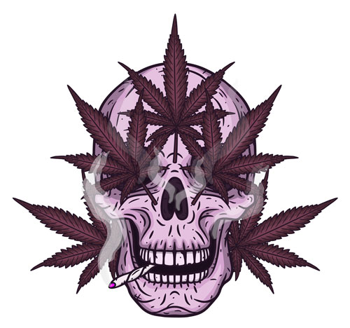 weed-cartoon-skull-man